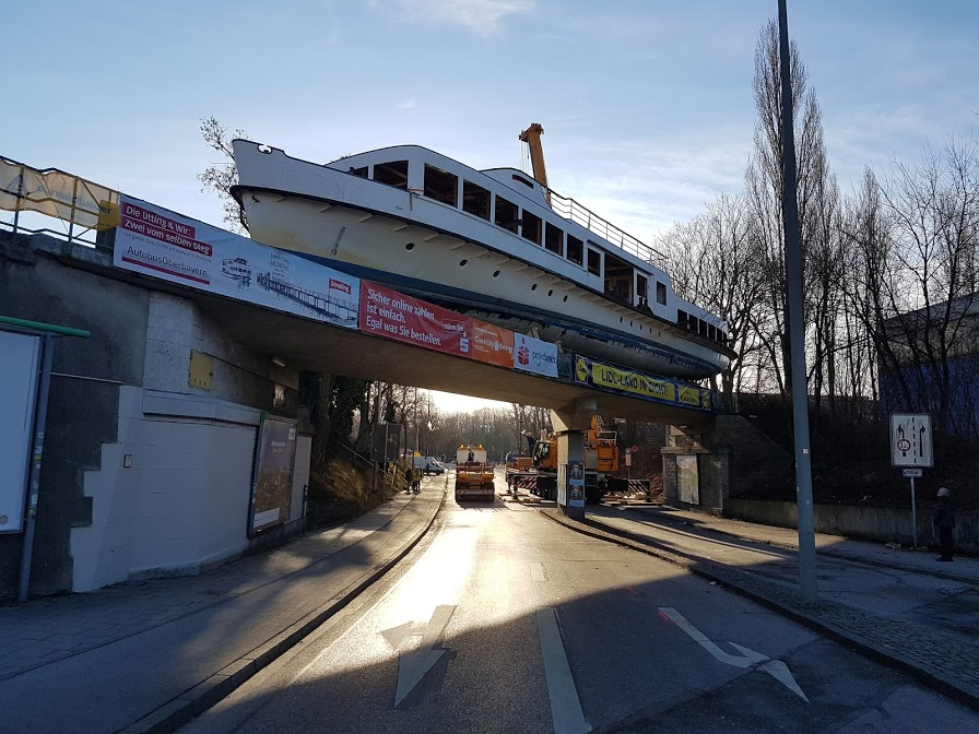 Schiff in Sendling
