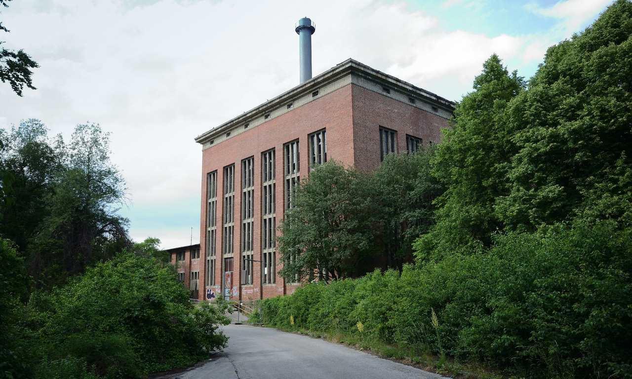 Eine verlassene Industrieanlage in München