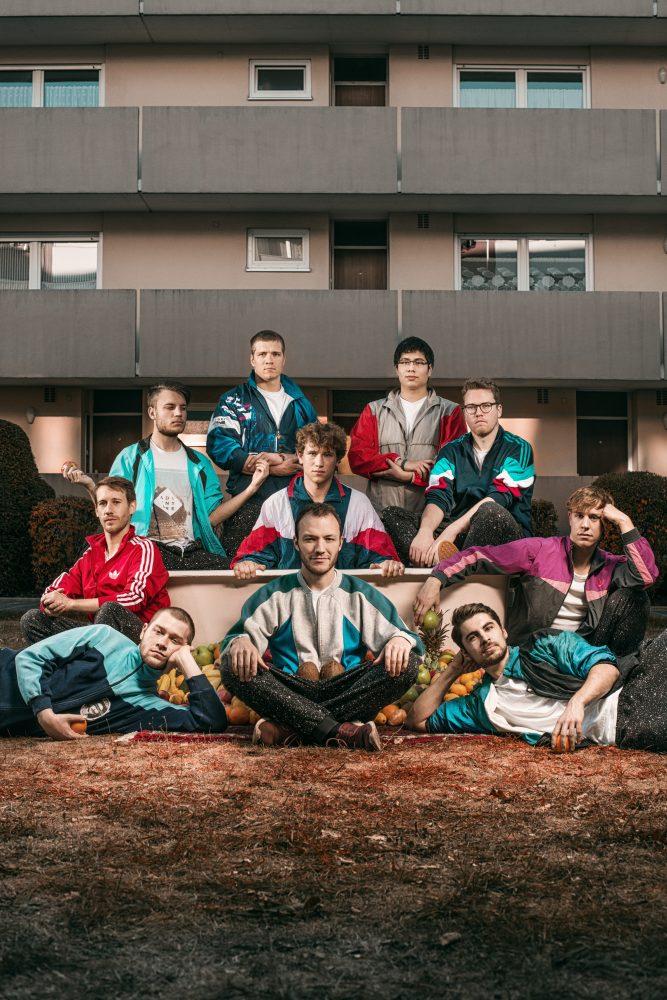 zehnköpfige HipHop-Funk Band