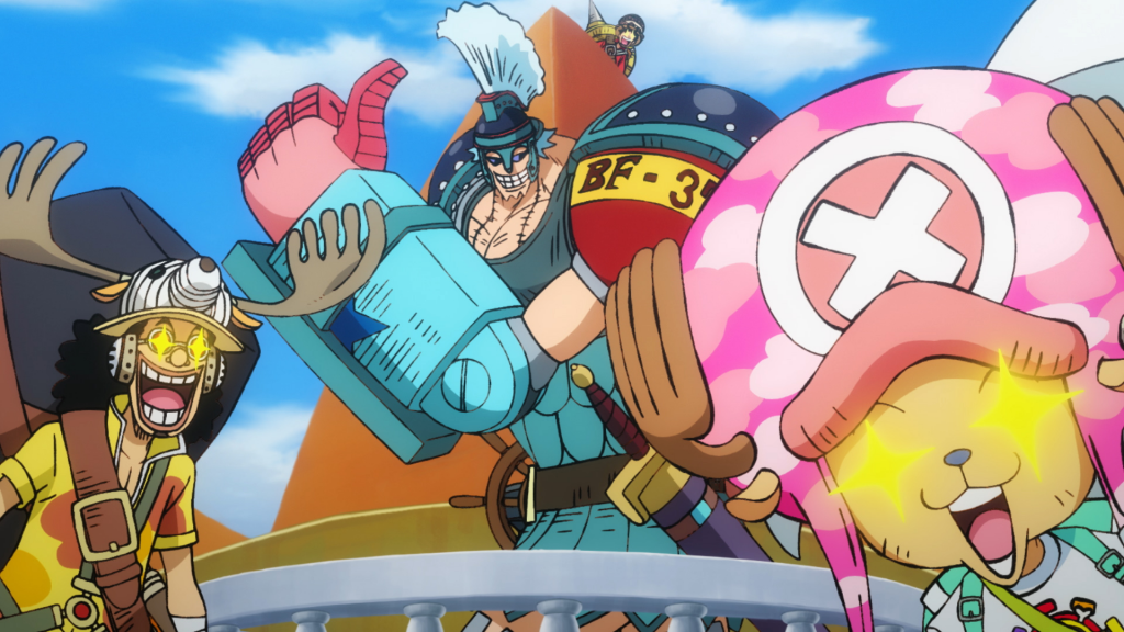 Die Crew der Anime-Piraten aus ONE PIECE