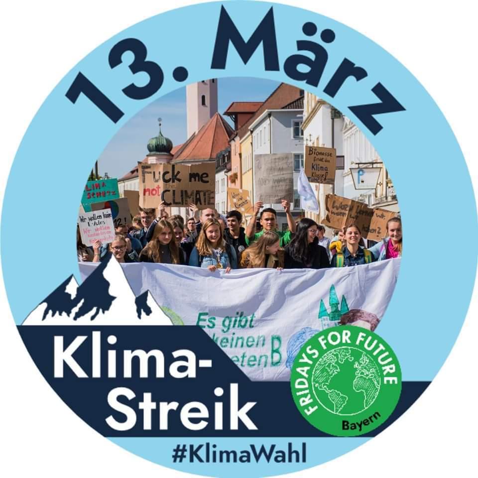 Fridays for Futurfe Logo für Streik am 13. März