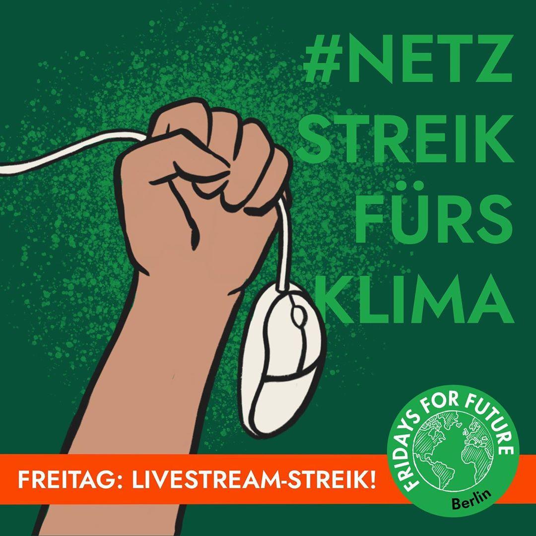 Die Fridays For Future bewegung postet ihre Demoschilder jeden Freitag unter #Netzstreikfürsklima, auch gegen die Corona Langeweile