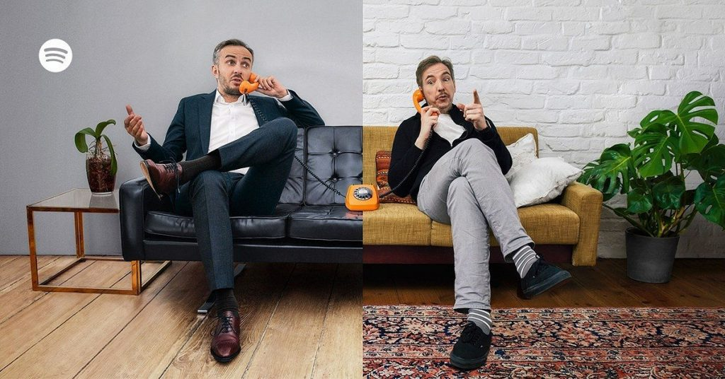 Moderator Jan Böhmermann und Musiker Olli Schulz reden in ihrem POdcast Fest und Flauschig über so einiges