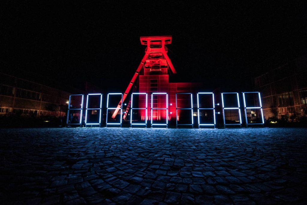 Night of Light 2020: Die Zeche Zollvereien erstrahlt im Rot der Protestaktion