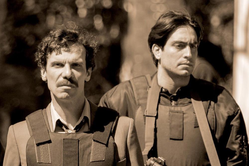 Dieses Bild zeigt den Mafiajäger und Staatsanwalt Savero. held der Serie Il cacciatore