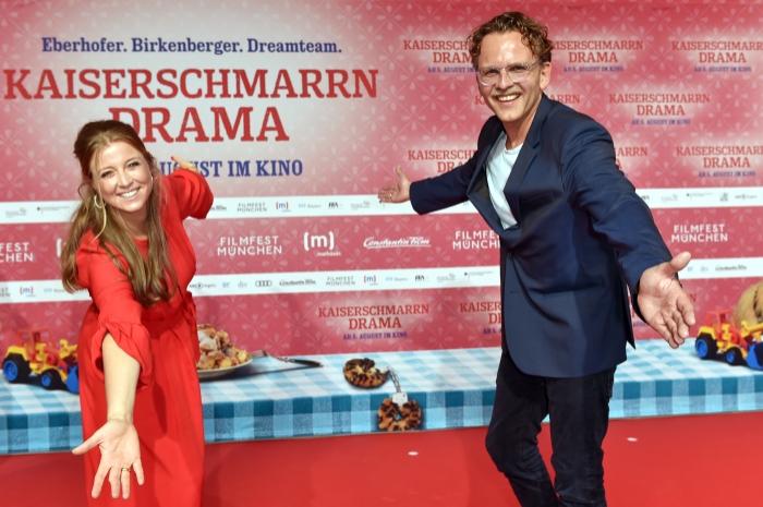 Nina Eichinger und Christoph Gröner auf dem roten Teppich 2021