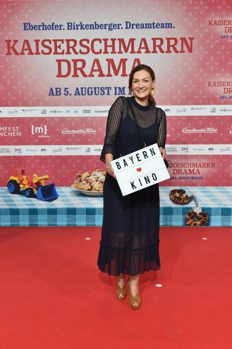 Judith Gerlach auf dem roten Teppich im Sommer 2021
